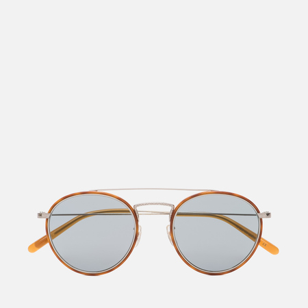 Солнцезащитные очки Oliver Peoples Ellice Amber Tortoise/Silver/Blue Goldtone Glass