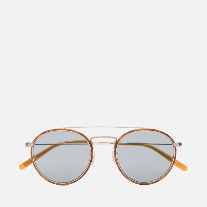 Солнцезащитные очки Oliver Peoples Ellice Amber Tortoise/Silver/Blue Goldtone Glass