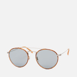 Солнцезащитные очки Oliver Peoples Ellice Amber Tortoise/Silver/Blue Goldtone Glass фото- 1