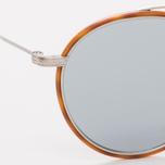Солнцезащитные очки Oliver Peoples Ellice Amber Tortoise/Silver/Blue Goldtone Glass фото- 2