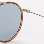 Солнцезащитные очки Oliver Peoples Ellice Amber Tortoise/Silver/Blue Goldtone Glass фото- 3