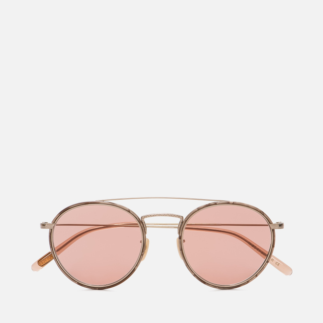 Солнцезащитные очки Oliver Peoples Ellice Mocha Marble/Gold/Mauve Rose Photochromic Glass