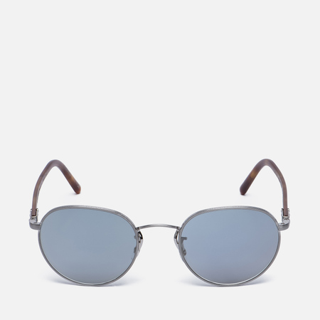 Солнцезащитные очки Oliver Peoples Hassett Brushed Silver/Semi-Matte Light Brown/Blue Goldtone