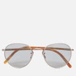 Солнцезащитные очки Oliver Peoples Hassett Brushed Silver/Semi-Matte Light Brown/Blue Goldtone фото- 0