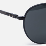 Солнцезащитные очки Oliver Peoples Hassett Matte Black/Semi-Matte Ebonywood/Midnight Express Polar фото- 2