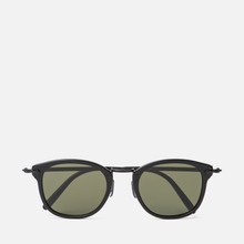 Солнцезащитные очки Oliver Peoples OP-506 Sun Dark Military/Antique Gold/Grey Goldtone фото- 0