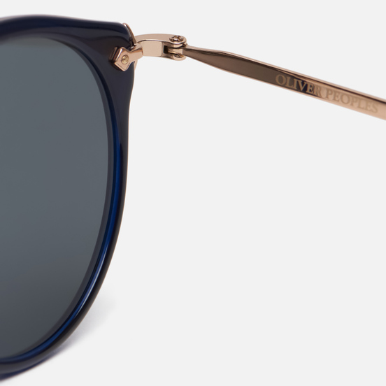 Солнцезащитные очки Oliver Peoples Remick Denim/Brushed Rose Gold/Blue Mirror