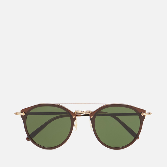 Солнцезащитные очки Oliver Peoples Remick Espresso/Gold/Dark Green
