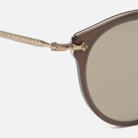 Солнцезащитные очки Oliver Peoples Remick Taupe/Brushed Gold/Taupe Flash Mirror