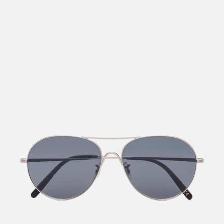 Солнцезащитные очки Oliver Peoples Rockmore Brushed Silver/Blue Glass