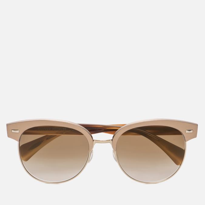 Солнцезащитные очки Oliver Peoples Shaelie Bronze Copper/Gold/Bronze Flash Gradient Mirror