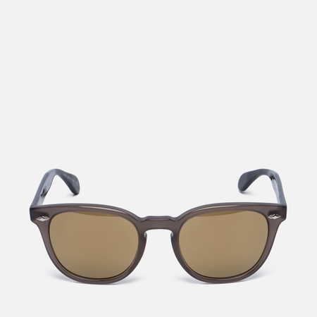Солнцезащитные очки Oliver Peoples Sheldrake Plus Taupe/Oak/Gold Mirror