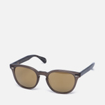 Солнцезащитные очки Oliver Peoples Sheldrake Plus Taupe/Oak/Gold Mirror фото- 1