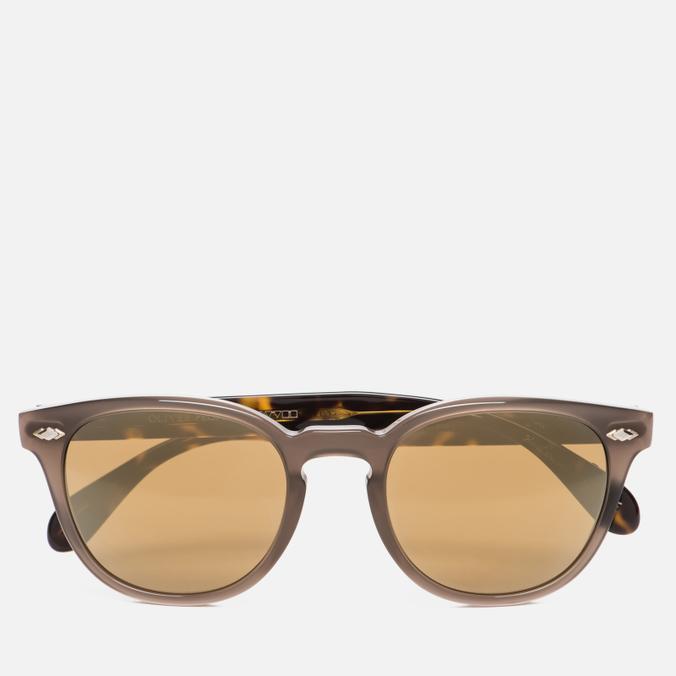 Солнцезащитные очки Oliver Peoples Sheldrake Plus Taupe/Oak/Gold Mirror