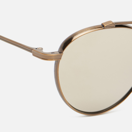 Солнцезащитные очки Oliver Peoples Watts Sun Antique Gold/Taupe Flash Mirror