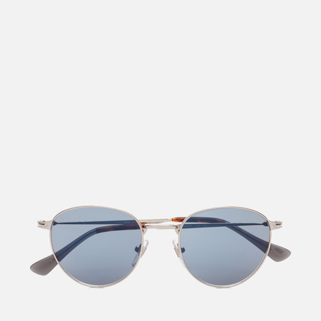 Солнцезащитные очки Persol PO2445S Metal Capsule Silver/Light Blue