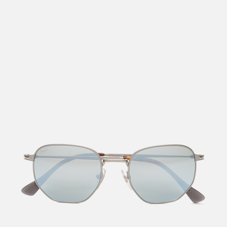 Солнцезащитные очки Persol PO2446S Metal Capsule Gunmetal/Light Green Mirror Silver