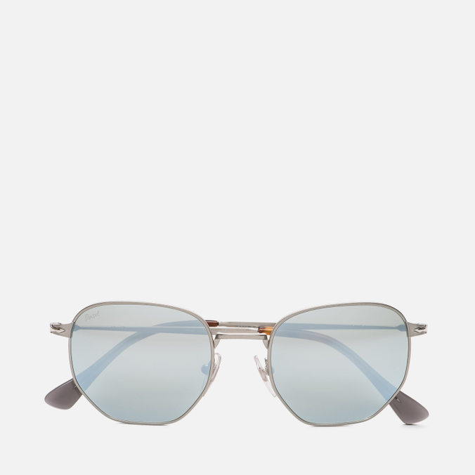 Солнцезащитные очки Persol PO2446S Metal Capsule Gunmetal/Light Green Mirror Silver