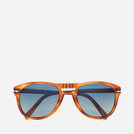 Солнцезащитные очки Persol Steve McQueen Light Havana/Blue Gradient Polar