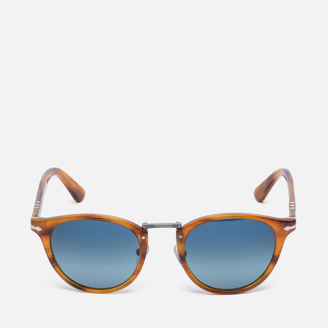 Солнцезащитные очки Persol Typewriter Edition Striped Brown/Blue