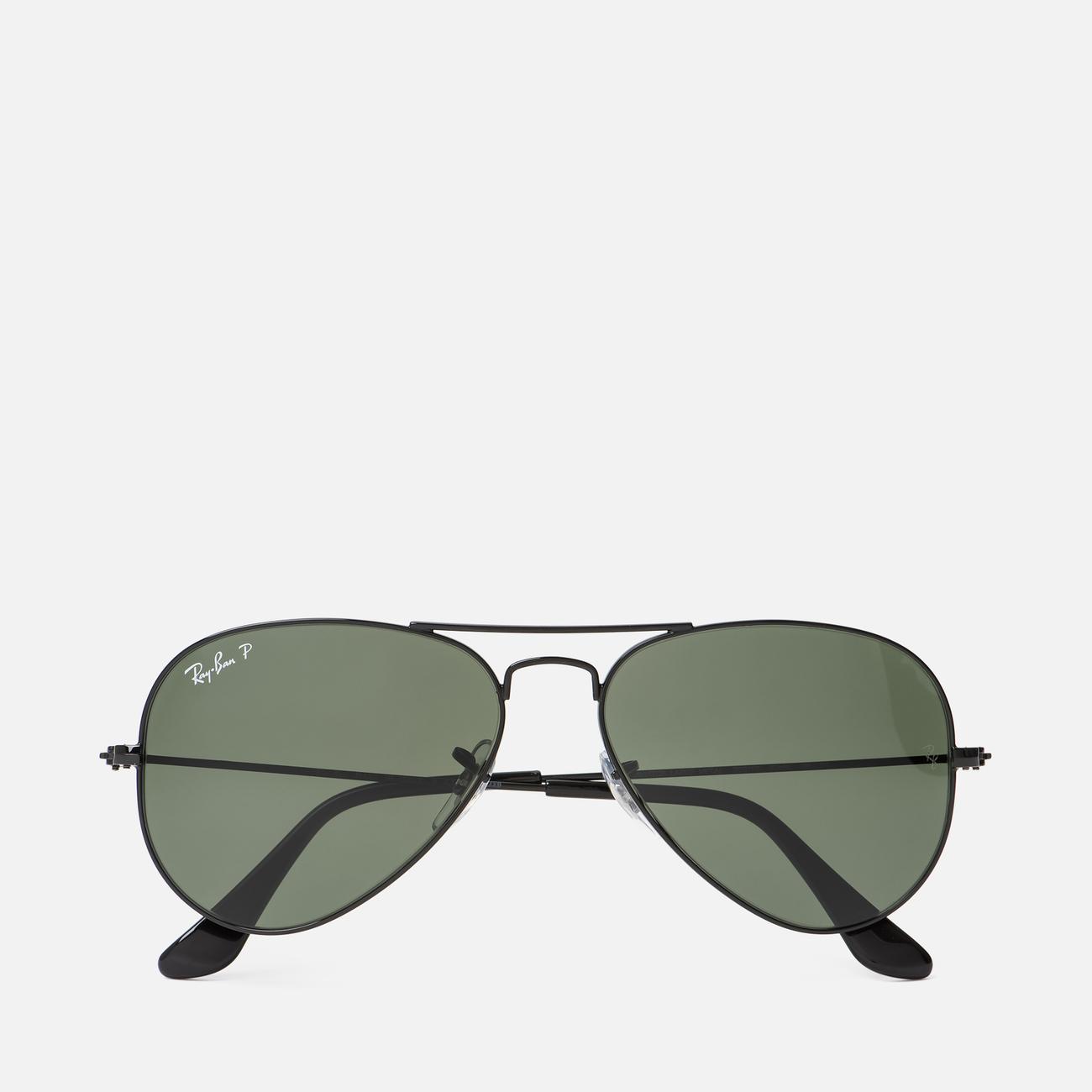 Солнцезащитные очки Ray-Ban Aviator Classic G-15 Black/Green