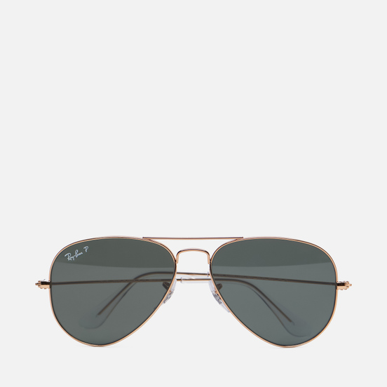 Солнцезащитные очки Ray-Ban Aviator Classic Polished Gold/Polarized Green Classic G-15