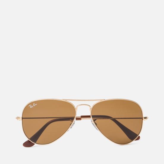 Солнцезащитные очки Ray-Ban Aviator Classic B-15 Gold/Brown