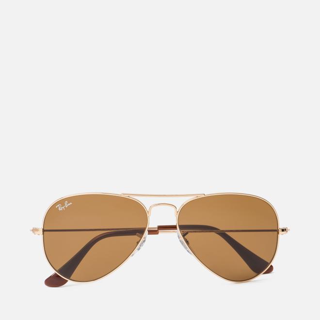 Солнцезащитные очки Ray-Ban Aviator Gold/Brown Classic B-15