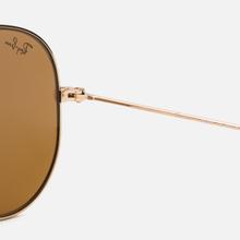 Солнцезащитные очки Ray-Ban Aviator Classic B-15 Gold/Brown фото- 3