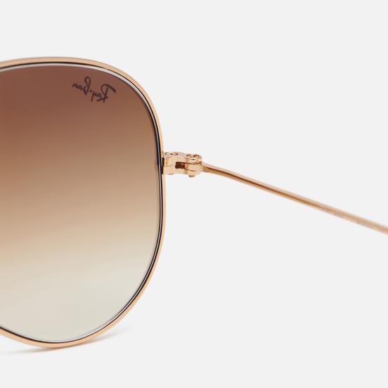 Солнцезащитные очки Ray-Ban Aviator Gradient Polished Gold/Light Brown Gradient