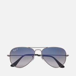Солнцезащитные очки Ray-Ban Aviator Gradient Polished Gunmetal/Polarized Blue/Grey Gradient