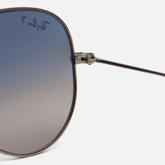 Солнцезащитные очки Ray-Ban Aviator Gradient Polished Gunmetal/Polarized Blue/Grey Gradient