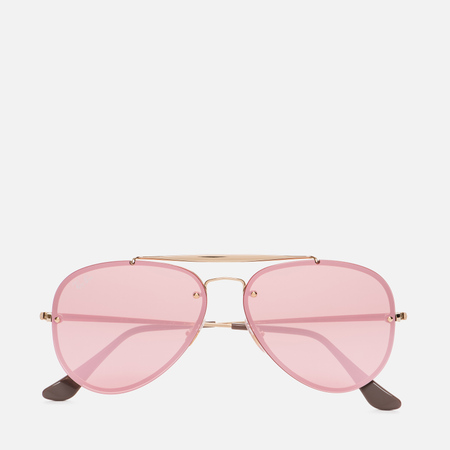 Солнцезащитные очки Ray-Ban Blaze Aviator Gold/Pink Mirror