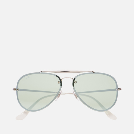 Солнцезащитные очки Ray-Ban Blaze Aviator Silver/Dark Green/Silver Mirror