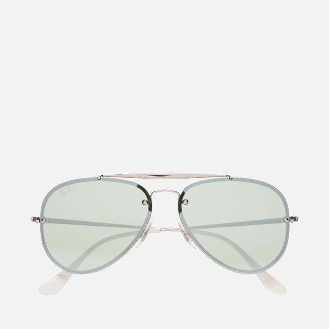 16f9994e4e Солнцезащитные очки Ray-Ban Blaze Aviator Silver Dark Green Silver Mirror  ...