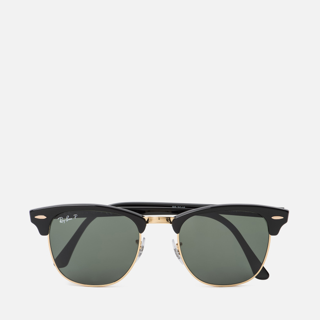 Солнцезащитные очки Ray-Ban Clubmaster Black/Green Classic G-15