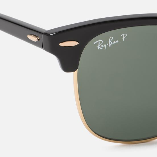 Солнцезащитные очки Ray-Ban Clubmaster Classic G-15 Polarized Black/Green