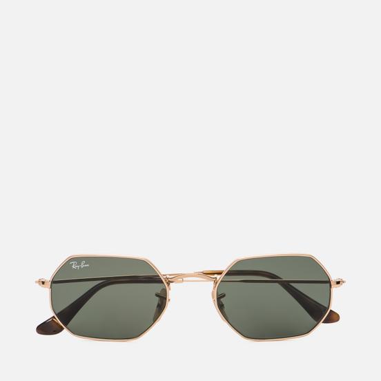 Солнцезащитные очки Ray-Ban Octagonal Classic Polished Gold/Green Classic G-15