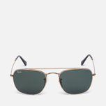 Солнцезащитные очки Ray-Ban Double Bridge Gold/Green Classic G-15 фото- 0