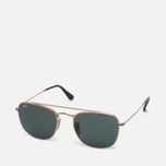 Солнцезащитные очки Ray-Ban Double Bridge Gold/Green Classic G-15 фото- 1