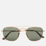 Солнцезащитные очки Ray-Ban Double Bridge Gold/Green Classic G-15 фото- 0