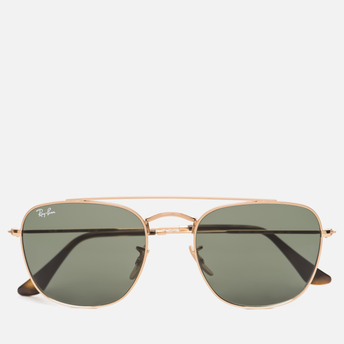 Солнцезащитные очки Ray-Ban Double Bridge Gold/Green Classic G-15