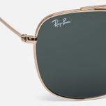 Солнцезащитные очки Ray-Ban Double Bridge Gold/Green Classic G-15 фото- 2
