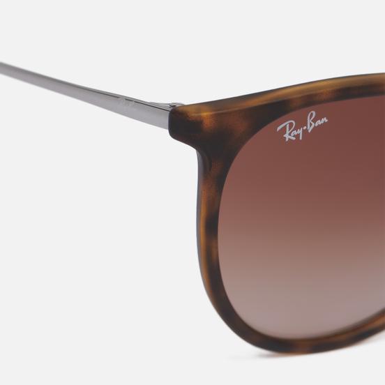 Солнцезащитные очки Ray-Ban Erika Rubber Havana/Poly Brown Gradient