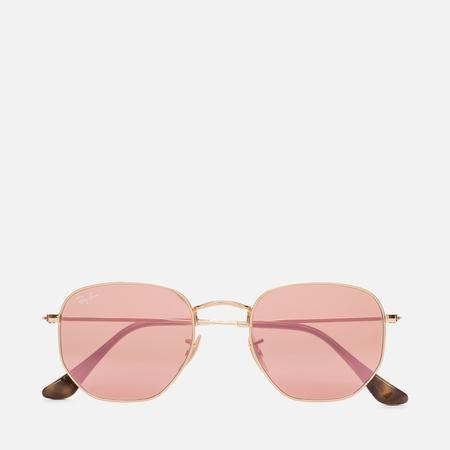 Солнцезащитные очки Ray-Ban Hexagonal Flat Lenses Gold/Copper Flash