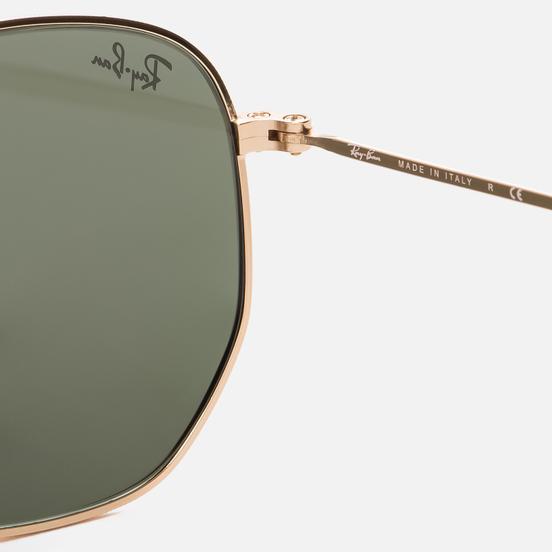 Солнцезащитные очки Ray-Ban Hexagonal Flat Lenses Polished Gold/Green Classic G-15