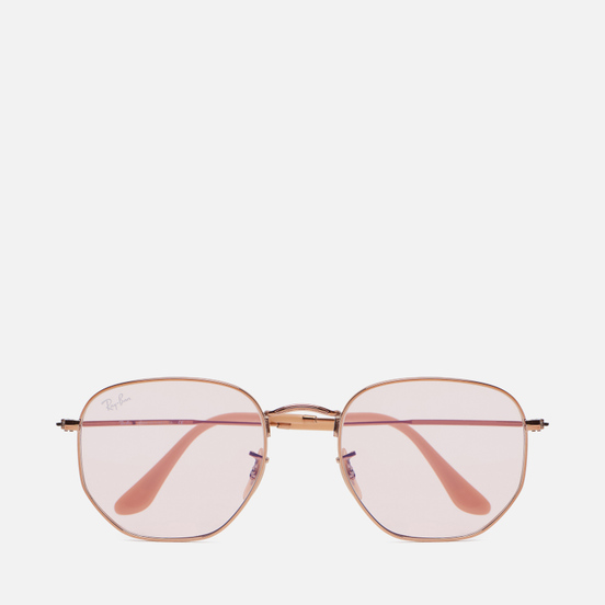 Солнцезащитные очки Ray-Ban Hexagonal Washed Evolve Copper/Bronze-Copper/Pink Photochromic Evolve