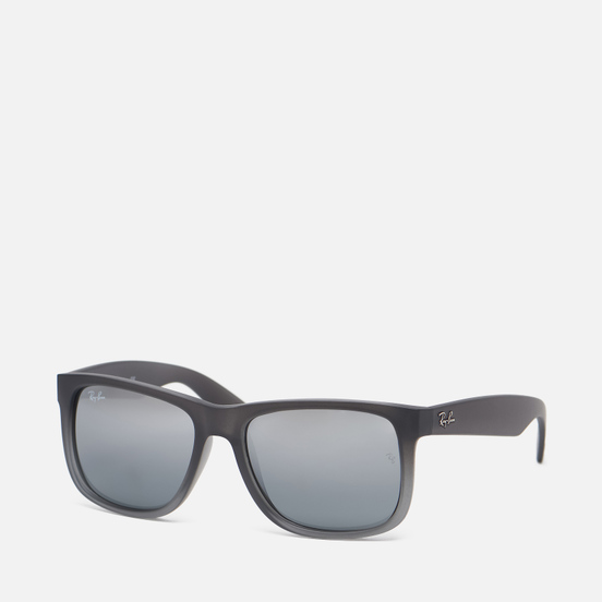 Солнцезащитные очки Ray-Ban Justin Classic Matte Grey/Silver Gradient Mirror