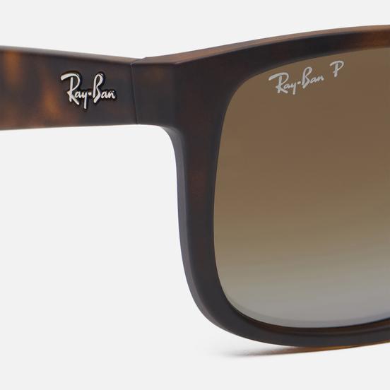 Солнцезащитные очки Ray-Ban Justin Classic Matte Tortoise/Polarized Brown Gradient