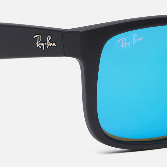 Солнцезащитные очки Ray-Ban Justin Color Mix Matte Black/Blue Mirror